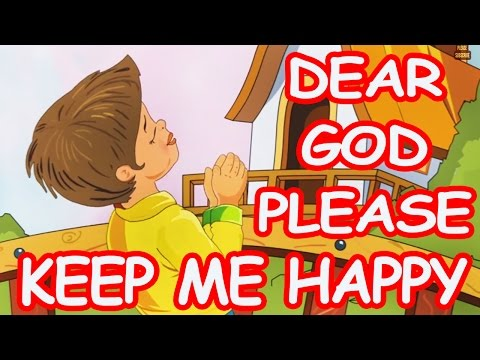 Dear God Please Keep Me Happy | English Prayer For Kids