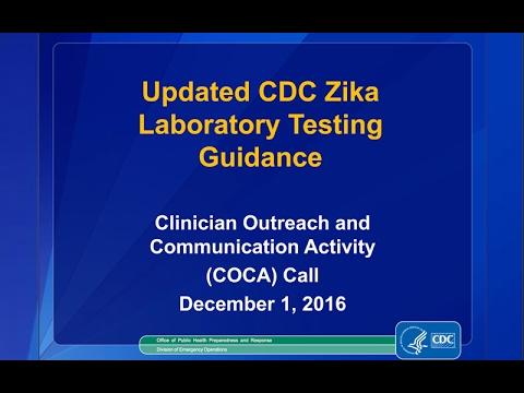 Updated CDC Zika Laboratory Testing Guidance