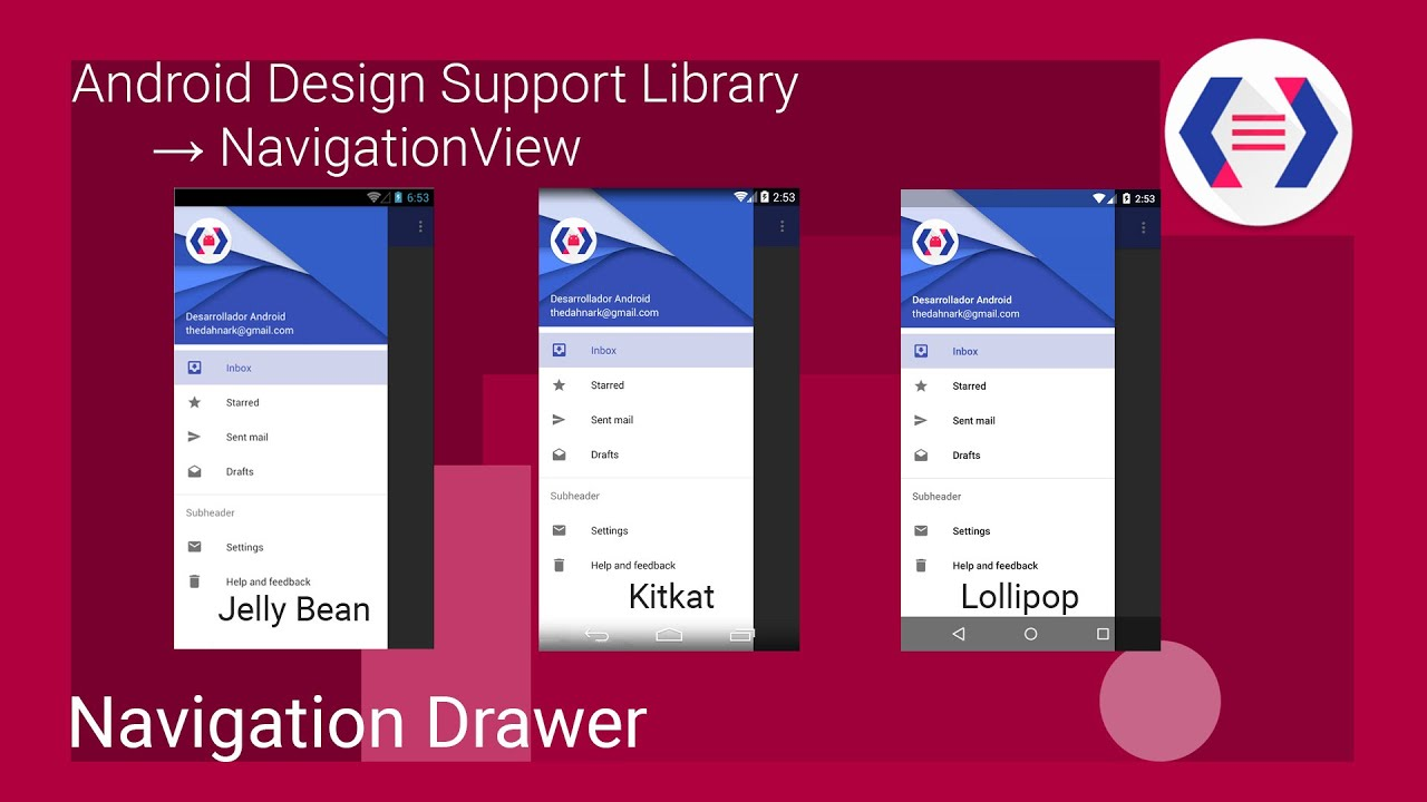 Navigation Drawer - Android Design Support Library