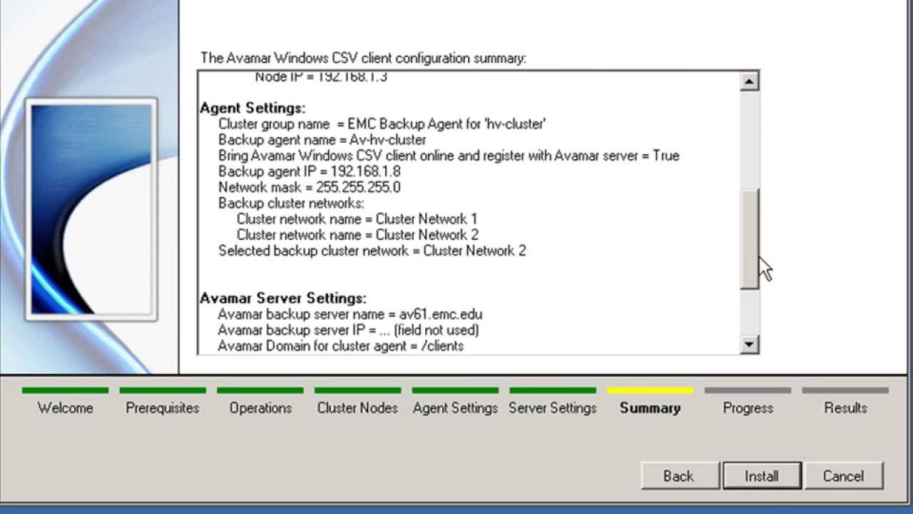 EMC Avamar Hyper-V Backup Configuration - Part 1 - YouTube