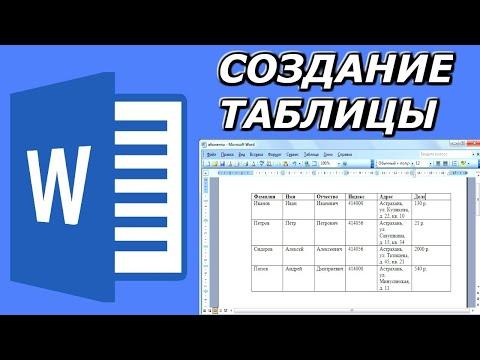 Как создать простую таблицу в программе Word