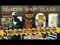 Top 5 Must Know Settlement Building Tips 🚧 Fallout 4 No Mods Shop Class