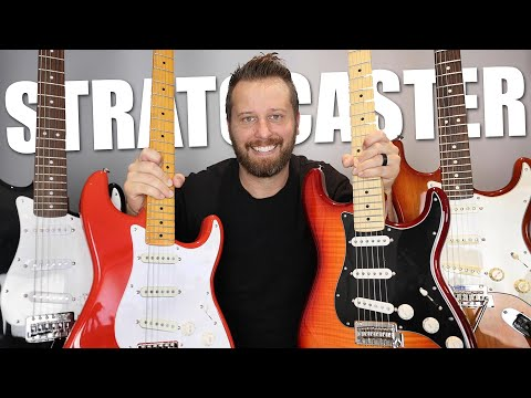 ULTIMATE Stratocaster Comparison!  From Squier Affinity to Fender Custom Shop!