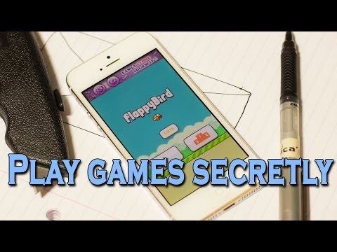 How to play mobile games without getting caught!
