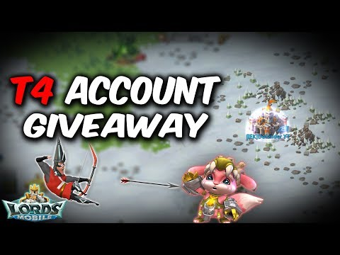 *CLOSED* T4 Account Giveaway - Lords Mobile