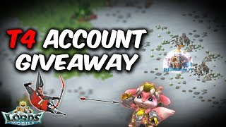 CLOSED T4 Account Giveaway   Lords Mobile
