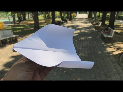 How to make paper airplane that flies for a long time  - Airplane Tutorial #16