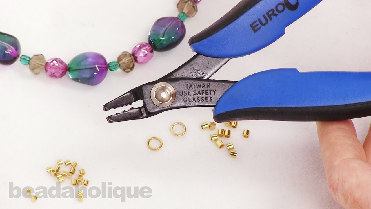 How To Use Double Notch Crimping Pliers Youtube