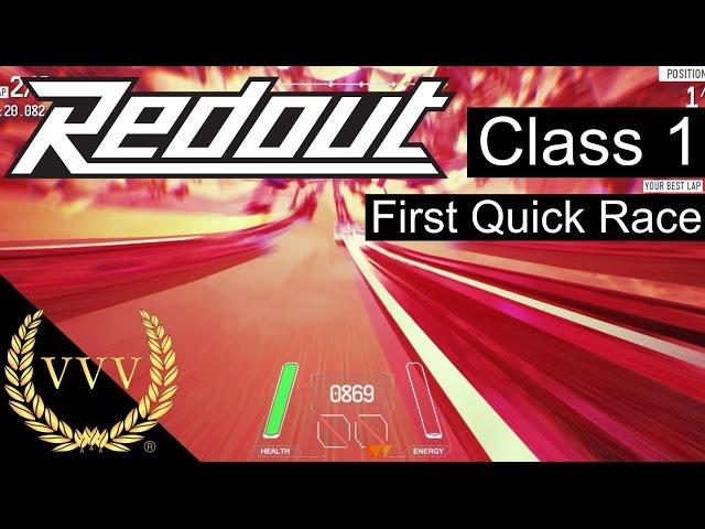 Redout Gameplay, First Race Class 1