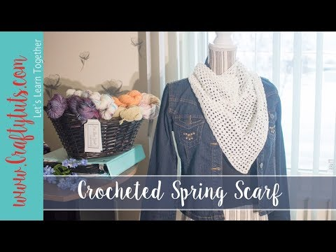 Crochet Spring Scarf Free Pattern And Tutorial With Link To Written