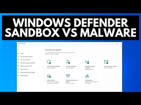 Windows Defender Sandbox Test Vs Malware