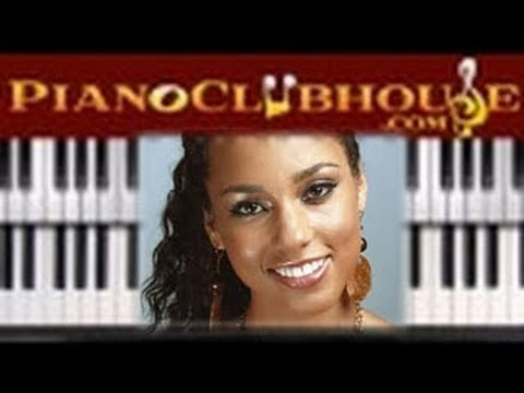 "♫ How to play ""UNTHINKABLE"" by Alicia Keys (piano tutorial lesson)"