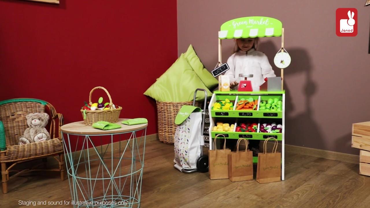 d5767ee5e Drevený obchod pre deti Janod s pokladňou váhovou ovocím a zeleninou |  Hračky online | Kidmania.sk