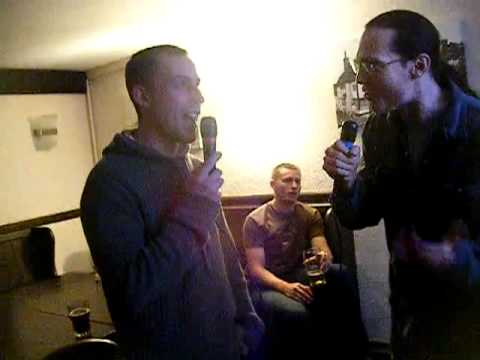 Kiel and Phil karaoke