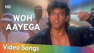 Woh Aayega (HD)   Karan (1994)   Vindu Dara Singh   Trishna   Anupam Kher   Bollywood Song