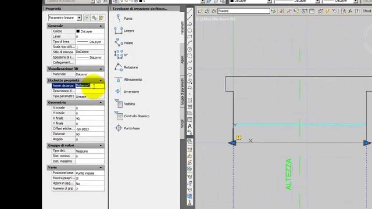 Costruire una finestra con blocco dinamico dynamic blocks in autocad architettura part 1 - Costruire una finestra ...