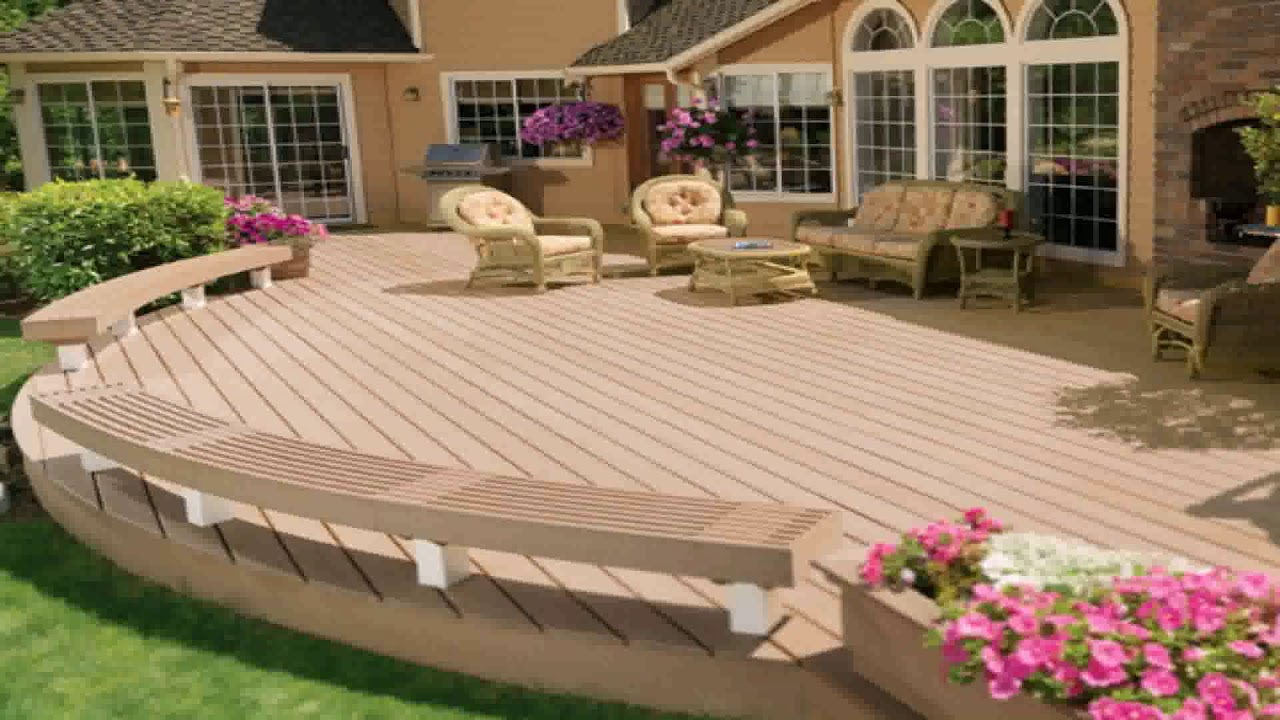 Patio And Deck Combination Designs - YouTube