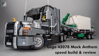 Lego Technic 42078 Mack Anthem unboxing, review & speed build