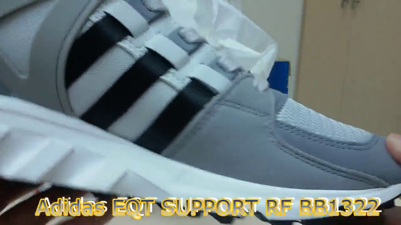 new concept 9a16e 99a8c Unboxing Review sneakers Adidas EQT SUPPORT RF LIGHT ONIX BB1322