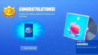 NEW! *FREE* Birthday LOBBY MUSIC..! (All Birthday Cakes LOCATION) Fortnite Battle Royale