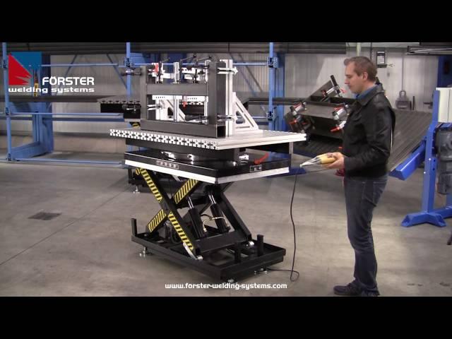X PRO LIFT & TURN 1500 x 1000 mm mit Präzisionsdrehkranz und Bremse