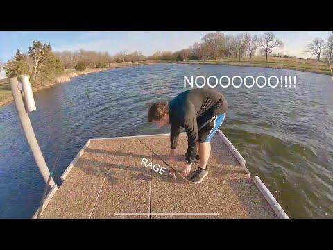 CATCHING MY PB BASS FROM THE BANK (kill Creek Lake/Lexington Lake Fishing)