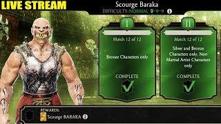 Mortal Kombat Mobile Live Stream. Scourge Baraka Challenge Gameplay. INSANE Requirements!