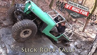 Trail Bouncing Slick Rock Falls at Busted Knuckle Off Road Park