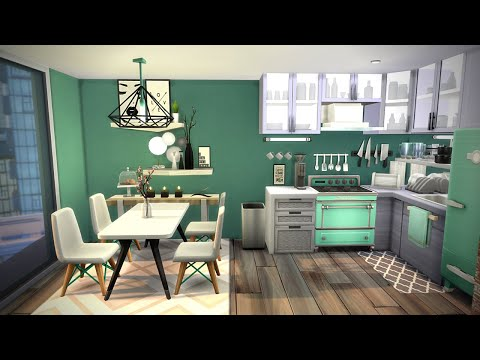 tiny-apartment-(1310-21-chic-street)-🌆-sims-4-speed-build-stop-motion-(no-cc)