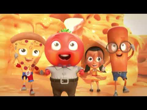Pizza Hut 3D animation video with subtitle