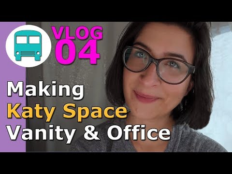 new-vanity-and-office-space- -vlog-04- -school-bus-conversion-life