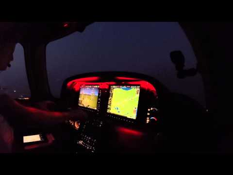 Cirrus SR22T Night Flight to Chicago Executive Airport