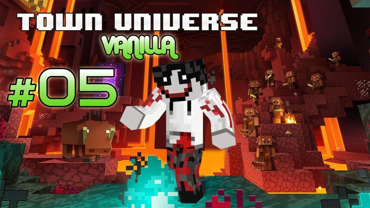 Town Universe Vanilla Bedrock: CONSTRUYENDO el SUPER MURO #5 - 1.16.1