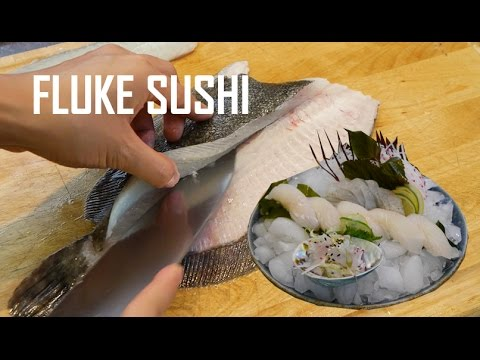 How To Fillet Fluke & Flounder For Sushi And Sashimi (Part 1) | (比目鱼寿司)