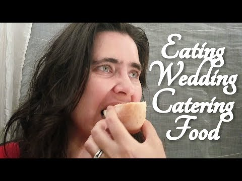 ASMR Eating Food from Wedding Catering