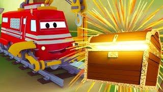 Vláček Troy a velký poklad ve Městě Aut/ Animák o autech a náklaďácích pro děti
