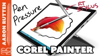 How to Enable Pen Pressure for a Windows Pen (Real-Time Stylus) in Corel Painter