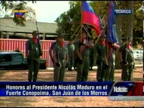07 ABR 2013 Llegada del Pdte y Candidato de Chávez, Nicolás Maduro, al estado Guárico