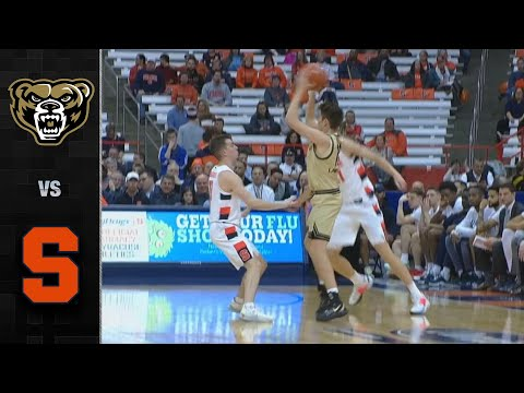 Oakland V. Syracuse Men's Basketball Highlights (2019-20)