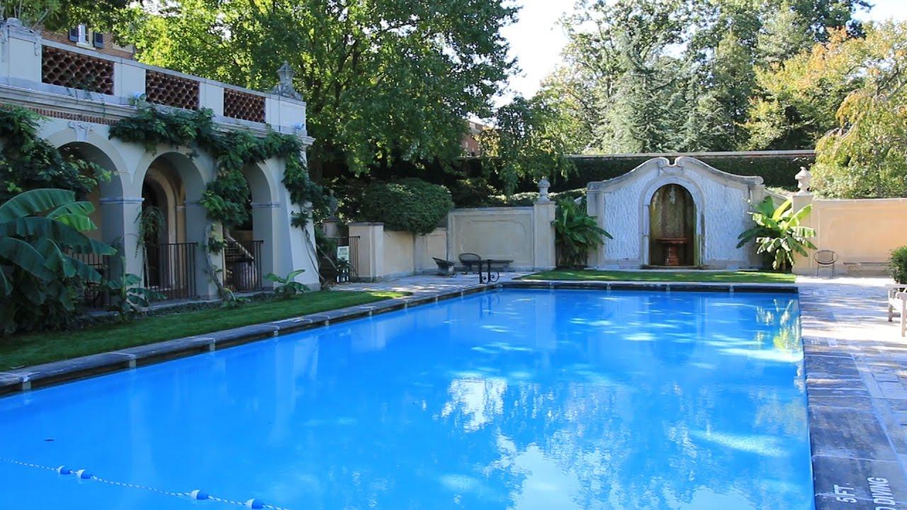 Dumbarton Oaks Gardens Pool And Loggia Youtube