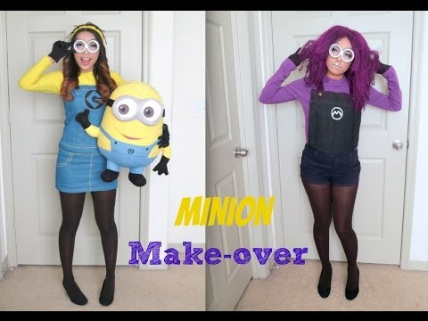 Yellow and Purple Minion Halloween Make-up Tutorial from YouTube · Duration:  6 minutes 18 seconds
