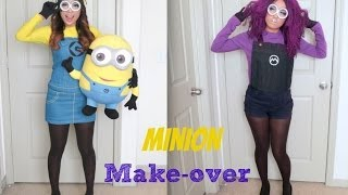 Yellow and Purple Minion Halloween Make-up Tutorial Thumbnail