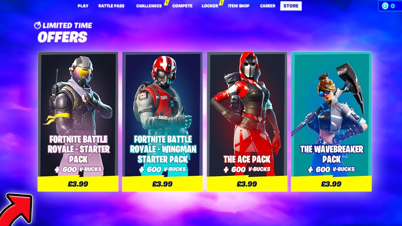 Is Fortnite Career All Time How To Purchase Old Starter Packs With This Glitch Fortnite Glitches Youtube