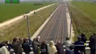 Repeat youtube video Fastest Train 574 km/h - watch the top left speed
