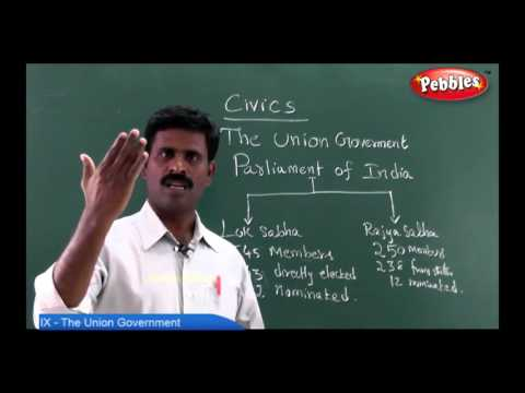 Samacheer 9th Std Social Science | The Union Government Civics | Term 01