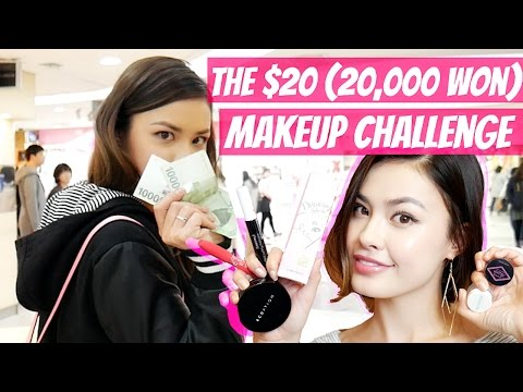 The $20 (20,000 won) Korean Makeup Challenge | Shop with Me + Full Face Under $20!