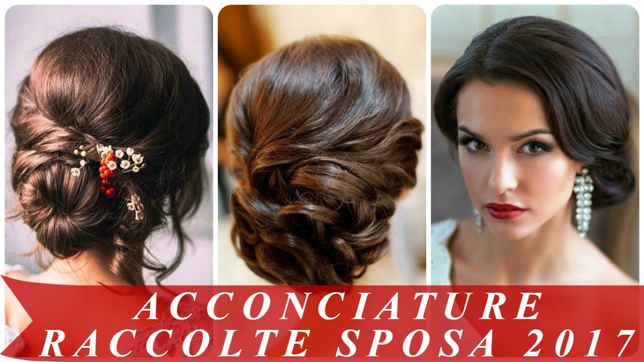 Populaire Acconciature raccolte sposa 2017 - YouTube RW84