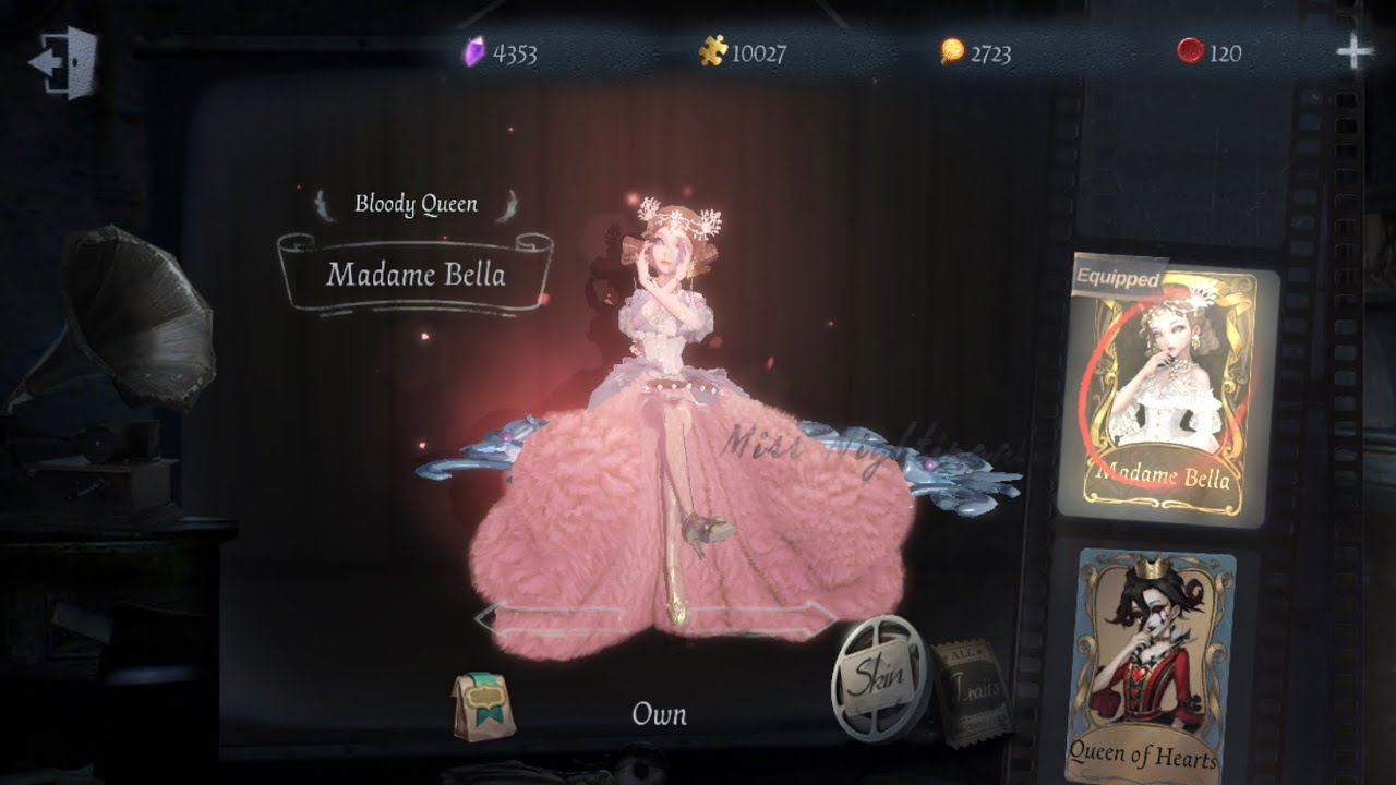 (ENG DUB) LET'S WALTZ! MADAME BELLA SKIN BLOODY QUEEN + PERFECT MARIONETTE ACC GAMEPLAY IDENTITY V