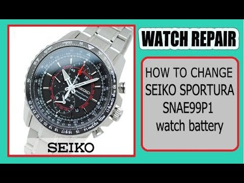 Seiko Sportura Chronograph Snae99p1 Watch Battery Replacement Youtube