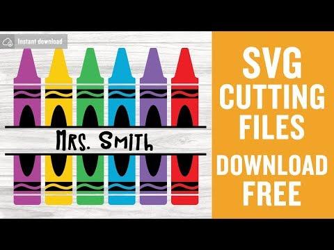 Crayon Monogram Svg Free Teacher Svg Free Pencil Svg Back To School Svg Monogram Svg Free Svg Cutting Files School Svg Free Dxf 0056 Freesvgplanet